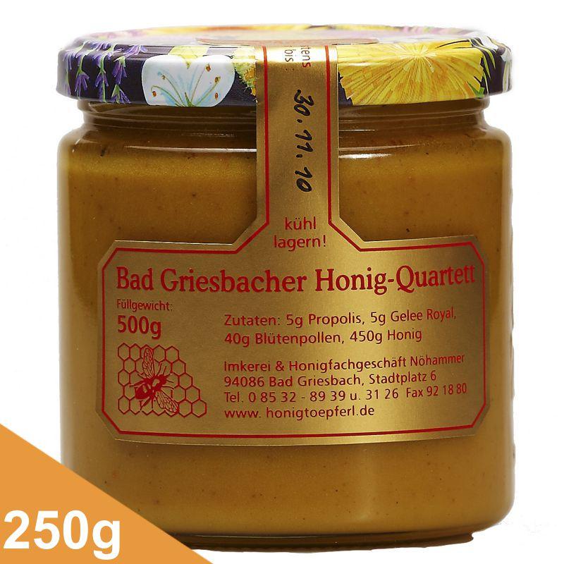 griesbacher quartett 250 gr griesbacher honigt pferl. Black Bedroom Furniture Sets. Home Design Ideas