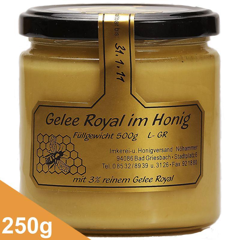 gelee royale im honig 250 gr griesbacher honigt pferl. Black Bedroom Furniture Sets. Home Design Ideas